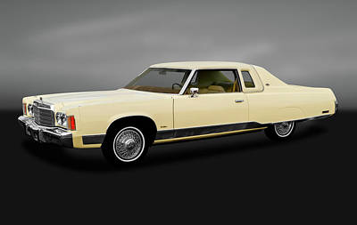 Photograph - 1974 Chrysler New Yorker  -  1974chrysny2drdhtpsedgry170856 by Frank J Benz