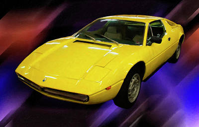 Painting - 1974 Maserati Merak Digital Oil by Chris Flees