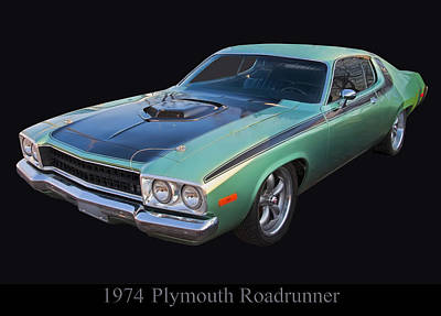 Digital Art - 1974 Plymouth Roadrunner by Chris Flees