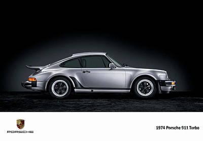 Digital Art - 1974 Porsche 911 Turbo. by Mohamed Elkhamisy