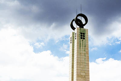 Photograph - 1974 Revolution Memorial Wrapped In Clouds by Lorraine Devon Wilke