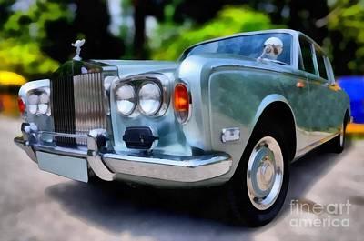 No People Painting - 1974 Rolls Royce Silver Shadow by George Atsametakis