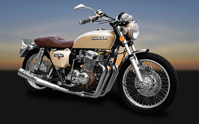 Photograph - 1975 Honda Cb750k5 Motorcycle  -  1975cb750k5honda172017 by Frank J Benz