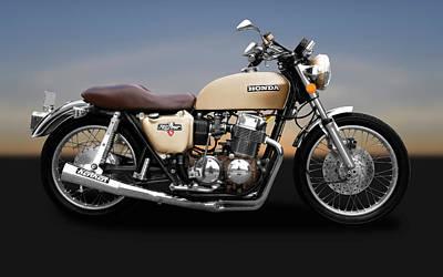 Photograph - 1975 Honda Cb750k5 Motorcycle   -   1975hondacb750k5motorbike172019 by Frank J Benz