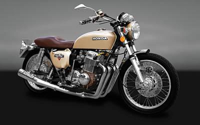 Photograph - 1975 Honda Cb750k5 Motorcycle  -  1975hondacb750kbgry172017 by Frank J Benz