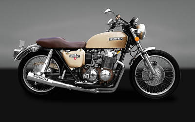 Photograph - 1975 Honda Cb750k5 Motorcycle   -  75cb750k5hondamotorbikegry172019 by Frank J Benz