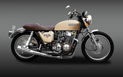 Photograph - 1975 Honda Cb750k5 Motorcycle   -  75motorcyclecb750k5fa172019 by Frank J Benz