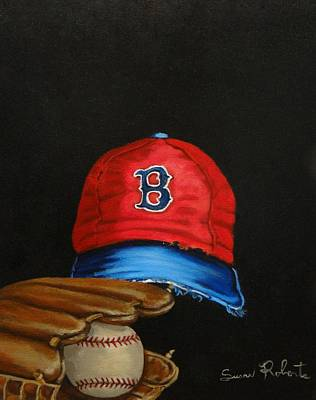 Painting - 1975 Red Sox by Susan Roberts