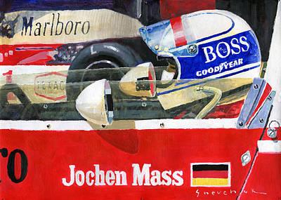 Mass Painting - 1976 Jarama Marlboro F1 Team Mclaren Jochen Mass by Yuriy Shevchuk