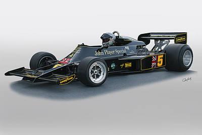 1976 Lotus 77 Vintage F1 Racecar Art Print by Dave Koontz