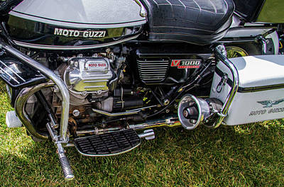 Photograph - 1976 Motto Guzzi V1000 Convert by Roger Mullenhour