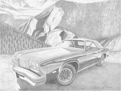 1976 Oldsmobile Cutlass Supreme Classic Car Art Print Art Print by Stephen Rooks