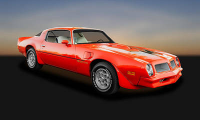 Photograph - 1976 Pontiac Firebird Trans Am  -  1976pontam088 by Frank J Benz