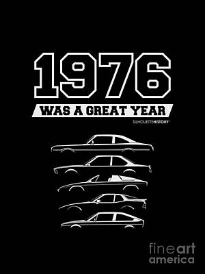 1976 Was A Great Year Silhouettehistory Art Print