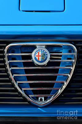 Retro Photograph - 1977 Alfa Romeo A12 Badge by George Atsametakis