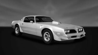 Photograph - 1977 Pontiac Firebird  -  77pontbw33 by Frank J Benz