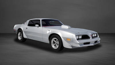 Photograph - 1977 Pontiac Firebird  -  77pontgr44 by Frank J Benz