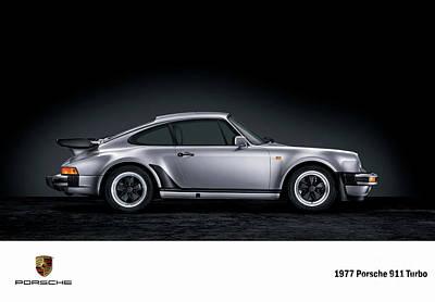 Digital Art - 1977 Porsche 911 Turbo. by Mohamed Elkhamisy