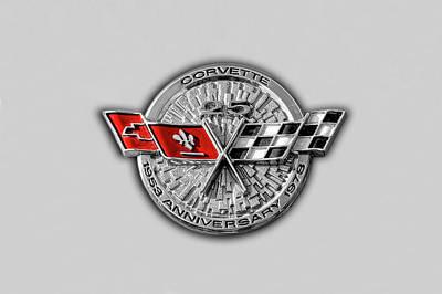 Photograph - 1978 C3 Chevrolet Corvette 25th Anniversary Emblem  -  1978vetteanniversary170769 by Frank J Benz