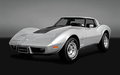 Photograph - 1978 C3 Chevrolet Corvette Stingray Coupe  -  1978chevyc3vettegry170766 by Frank J Benz