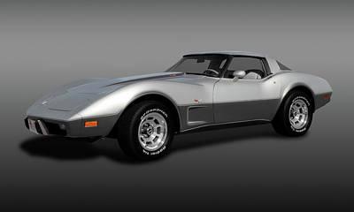 Photograph - 1978 C3 L82 Chevrolet Corvette Stingray Coupe  -  1978corvettel82coupefa173406 by Frank J Benz