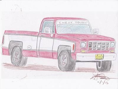 1978 Chevrolet Pickup Art Print by Stanley Lobby