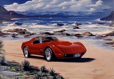 Wall Art - Painting - 1978 Corvette by Peter Ring Sr