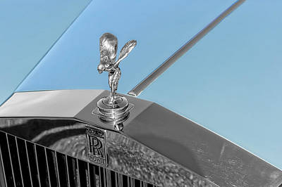 Photograph - 1978 Rolls Royce Silver Shadow II Hood Ornament  -  78rrsshdor50 by Frank J Benz