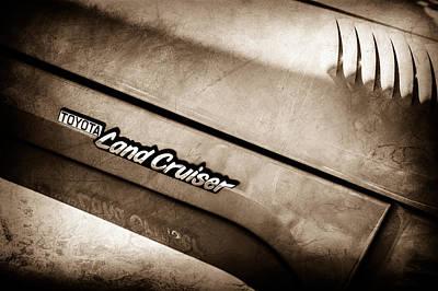 Photograph - 1978 Toyota Land Cruiser Fj40 Side Emblem -0543s by Jill Reger