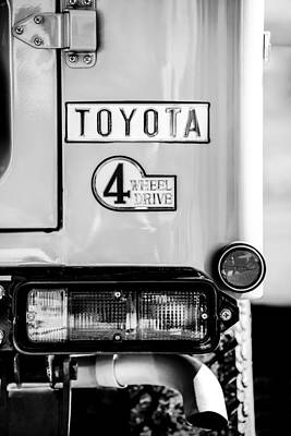 Photograph - 1978 Toyota Land Cruiser Fj40 Taillight Emblem -1191bw by Jill Reger