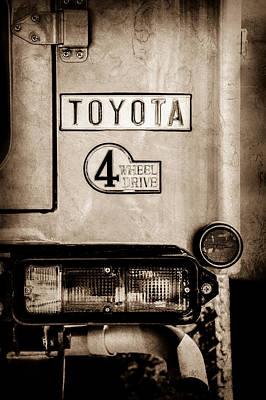 Photograph - 1978 Toyota Land Cruiser Fj40 Taillight Emblem -1191s by Jill Reger