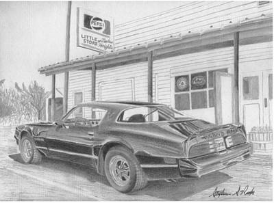 Pontiac Drawing - 1978 Trans Am Classic Car Art Print by Stephen Rooks