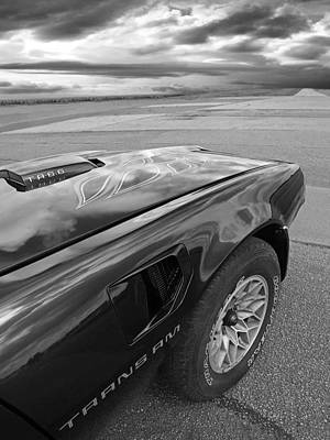 Photograph - 1978 Trans Am The Open Road In Black And White by Gill Billington