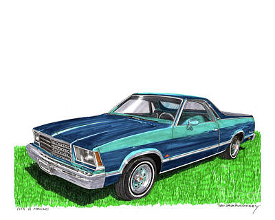 Painting - 1979 Chevrolet El Camino by Jack Pumphrey