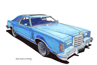 Painting - 1979 Ford Thunderbird by Jack Pumphrey