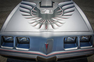 Photograph - 1979 Pontiac Trans Am Hood Firebird -0812c by Jill Reger