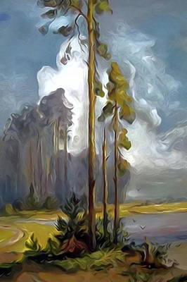 Valley Painting - Nature Landscape Painting by Edna Wallen