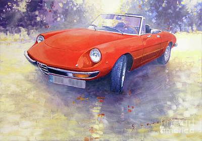 Spider Painting - 1980 Alfa Romeo Spider 2000 Veloce  by Yuriy Shevchuk