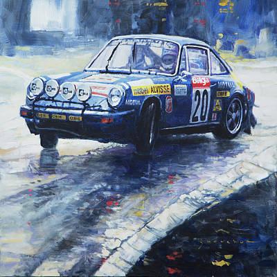 Racing Painting - 1980 Criterium Lucien Bianchi Porsche Carrera Keller Hoss #20 by Yuriy Shevchuk