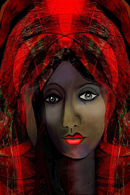 Art Print featuring the digital art 1980 -  Leading Into Temptation 2017 by Irmgard Schoendorf Welch