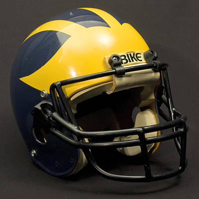 Photograph - 1980s Wolverine Helmet by Michigan Helmet