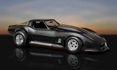 Photograph - 1981 C3 Chevrolet Corvette Custom Coupe  -  81vettecust9575 by Frank J Benz