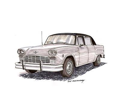 Painting - 1981 Checker Marathon Sedan by Jack Pumphrey