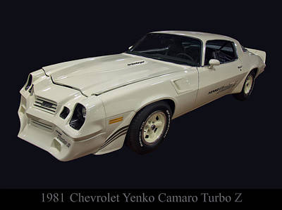 Digital Art - 1981 Chevy Yenko Camaro Turbo Z by Chris Flees