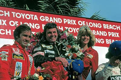 1981 Long Beach Grand Prix Winners Circle Art Print by Mike Flynn