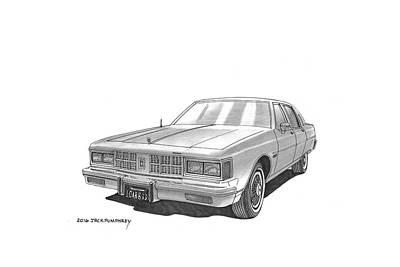 Painting - 1981 Oldsmobile Regency 4 Dr Sedan by Jack Pumphrey