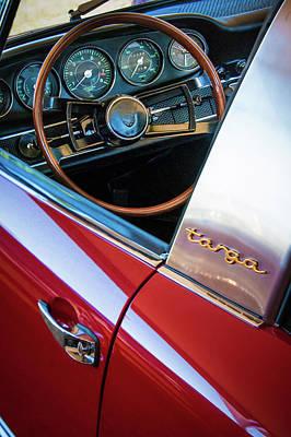 1981 Photograph - 1981 Porsche C928 Targa Steering Wheel -0265c by Jill Reger