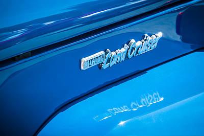 Photograph - 1982 Toyota Fj43 Land Cruiser Emblem -0491c by Jill Reger