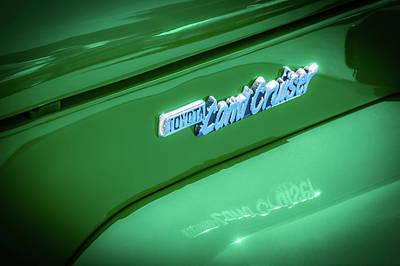 Photograph - 1982 Toyota Fj43 Land Cruiser Emblem -0491g by Jill Reger