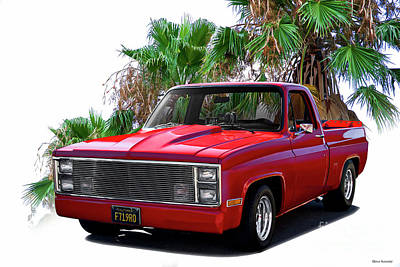 Photograph - 1983 Chevrolet C10 Pickup 'hottie Hauler' V by Dave Koontz